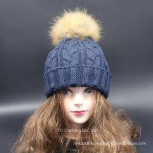 Wholesale Sombrero del invierno de los pompones de lana