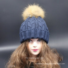 Wholesale Woolen Pompoms Winter Hat