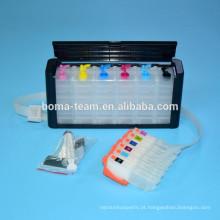 Ciss sistema para epson XP800 XP600 XP610 XP810 impressora de tinta ciss com cartucho e auto reset chip para epson