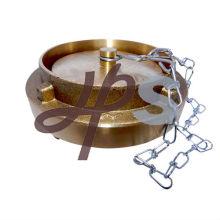 Tapa de manguera de incendio de latón de aluminio o giratoria con cadena