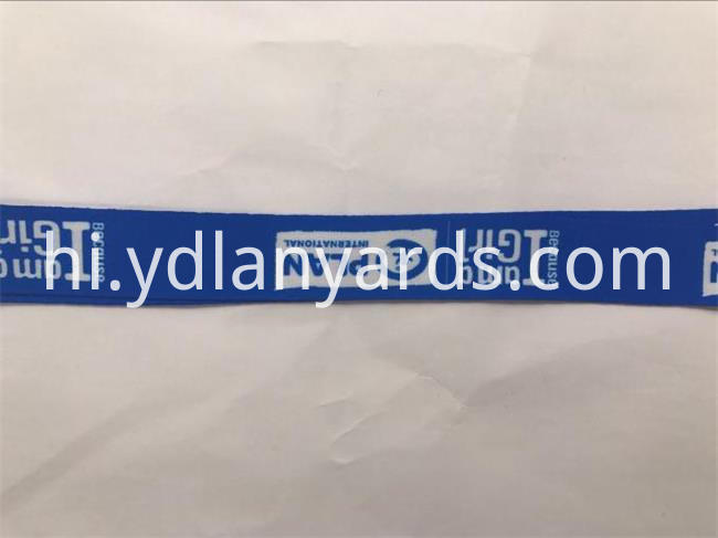 nice looking blue polyester lanyards