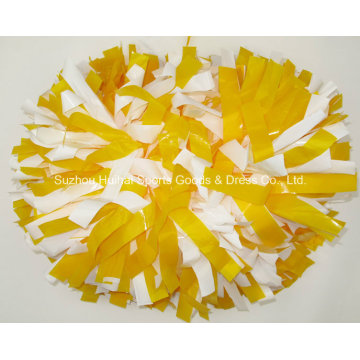 Wet Look POM POM: Yellow Mix White