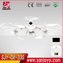 2015 cheeron CX-33S 5.8G de transmisión independiente drone rc hd cámara drone quadcopter profesional helicóptero
