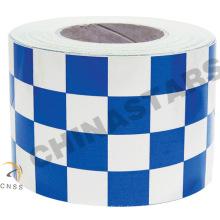 Ruban réfléchissant blanc bleu personnalisé pour vêtements de sécurité