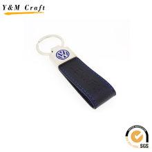 Anel chave de couro personalizado distintivo do plutônio (y03866)