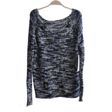 Ladies 100%Acrylic Fancy Yarn Knit Pullover Sweater