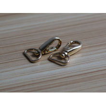 personalized handbag snap hook Gold metal swivel snap hook