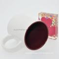 Sunmeta 11oz sublimation inner color mug dark red