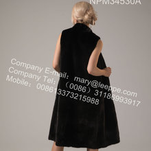 Women Winter Reversible Kopenhagen Mink Vest