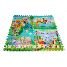 Figuras de dibujos animados Mosaic EVA Mat 4PCS juguetes