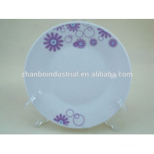 Placas de sopa de porcelana blanca plana de 10,5 ''