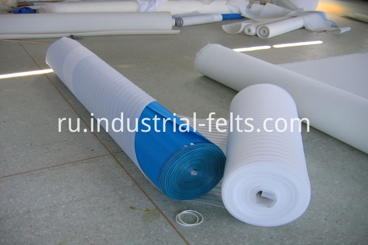 packaging of dewatering belt