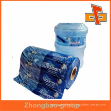 Custom printed PVC heat shrink 5 gallon water bottle labels for packing with high quality