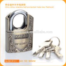 Ausgezeichnete Qualität Zink-Legierungs-Schäkel-halb geschützte Flügel-Schlüssel Vorhängeschloß