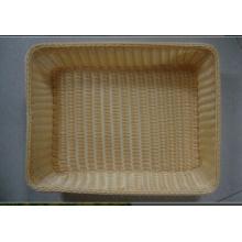 Panier en rotin en plastique; Panier de stockage; Panier de pain; Panier à nourriture