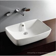Sobre contador superior del tazón de fuente cerámica mano lavado lavabo 1 orificio