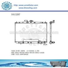 Radiador de aluminio para TOYOTA RX / SIENNA 16041-0P220 / 16041-0P270 / 16041-31620 Fabricante y Venta directa