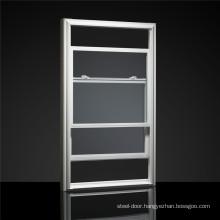 Double Hung Aluminum Sash Windows Vertial Sliding Sashless Single Aluminum Glazed Window for Australia USA Europe