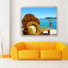 Painéis da parede de épocas ocasionais da praia impressão de canvas envolvida