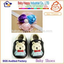 Nuevos zapatos de cuero atractivos del bebé de la panda encantadora popular