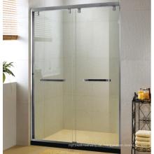 Horizontaler Stahlgriff Schiebe-Duschtür-Bildschirm