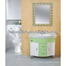 2013 Portas de vidro Fabricante de vaidade de banheiro branco