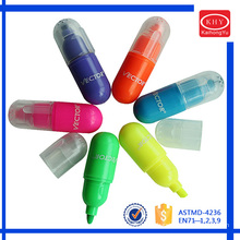 Stationery set kids using capsule shape highlighter