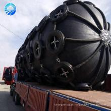 Pára-choque inflável do barco da doca de borracha com rede da corrente e do pneu