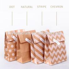 Saco de papel para festa de atacado saco de papel reutilizável para embalagem de farinha