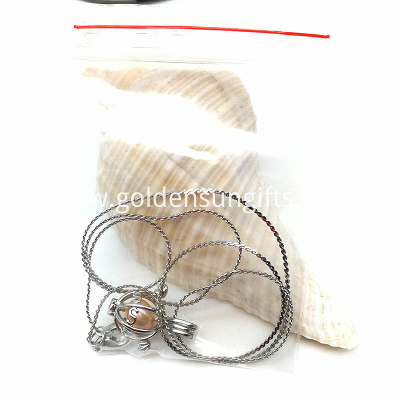 OPP Bag Packaging for Pearl Cage Pendant Necklace