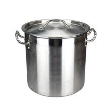 Grand pot de soupe / casserole de batterie de cuisine en acier inoxydable poli de style 98L en acier inoxydable de style indien