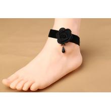 Sexy Black Flower Lace Anklet Wholesale Cheap Ankle Bracelet