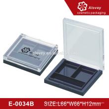 Черные 2 квадратные кастрюли с пустой крышкой для теней для век