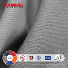 Tissu ignifuge ignifuge de sergé de coton et de nylon pour l'uniforme protecteur