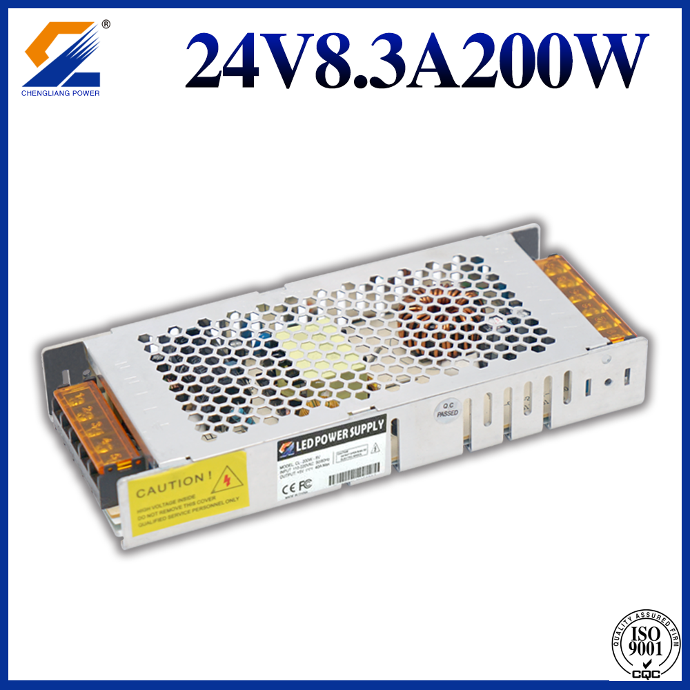 Slim SMPS 24V 200W For LED Module and Strip