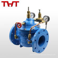 Válvula de control hidráulico de caudal de agua tipo diafragma de hierro dúctil