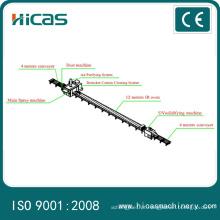 Linha de produção Produtor de tinta automática com 12 metros de forno IR