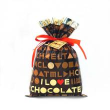 Коричневая пластиковая шоколадная сумка на день Святого Валентина