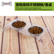 wholesale High Quality Dog Bowls With Stand Stainless Steel Pet Bowl