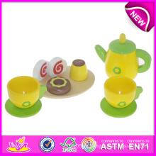 Juguete educativo Juguete de té de madera para niños, Juguete de té de juguete de madera hecho a mano para niños, Juego de té Juguete de tazas nuevo para Bebé W10b085