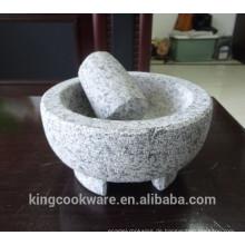 natürlicher granit molcajete 15.5x8cm