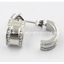 Boucles d'oreille en argent et bijoux en acier inoxydable