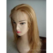 perruque de cheveux humains de haute qualité naturelle, pas cher et en stock