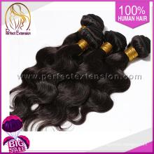 trama doble de 100% pelo virginal, pelo humano que teje la onda del cuerpo