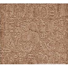 Folha de cartão de madeira decorativa / placa de madeira estampada / painel de madeira projetado