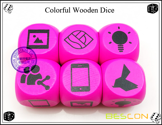 Colorful Wooden Dice-3