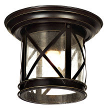 Brown Color Decorative Outdoor Ceiling Lights Waterproof Glass Lamp