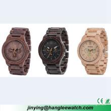 Tabela de madeira de primeira qualidade do relógio de madeira multifuncional do OEM