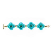 Four flowers bead bracelets for women 1123-T