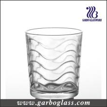9 Oz Wave Design Clear Whisky Glass Cup (GB027809B)